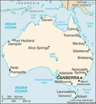 Towns And Cities In Australia - Map of australia with cities and towns
